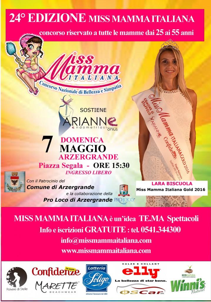 Locandina selezione Miss Mamma Italiana 2017 ad Azergrande (PD)