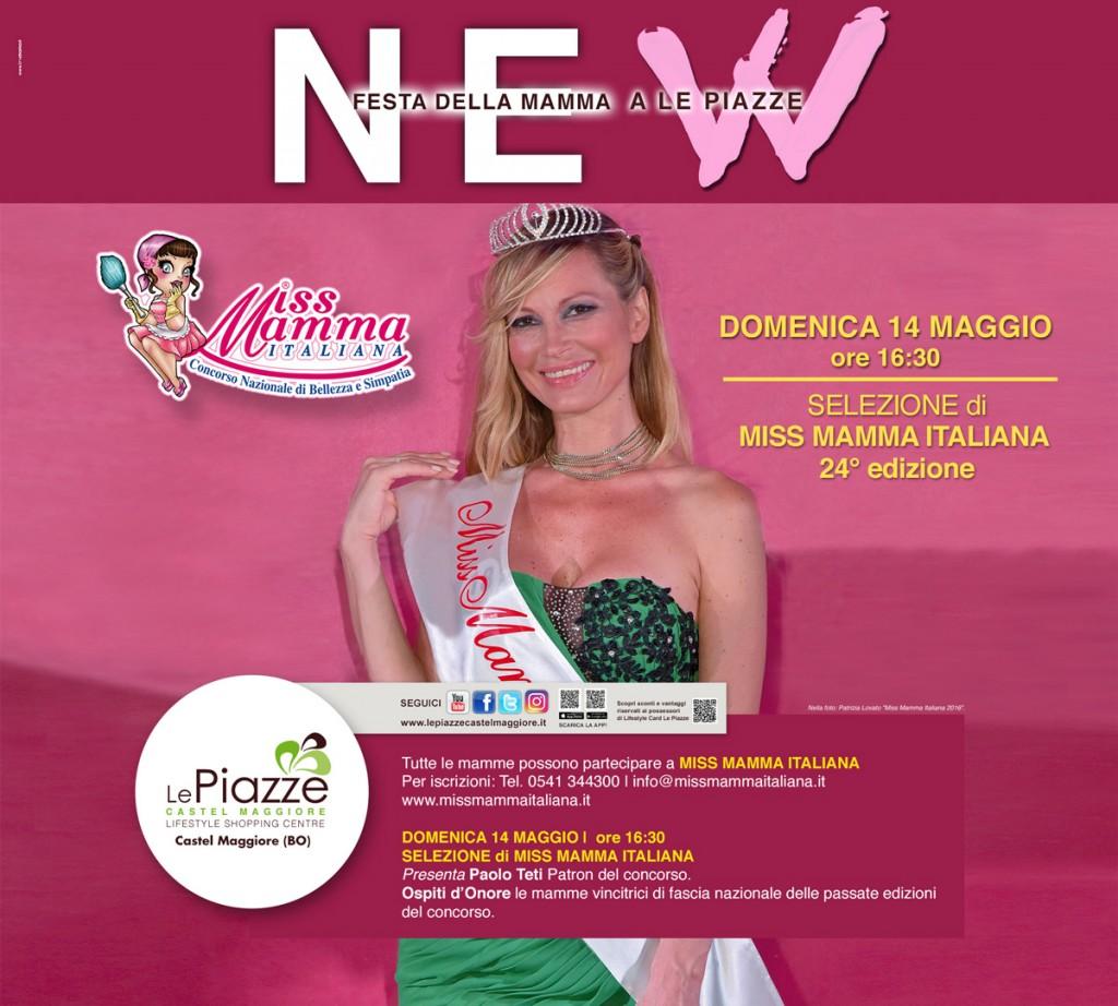 Locandina selezione Miss Mamma Italiana 2017 a Castel Maggiore Bologna