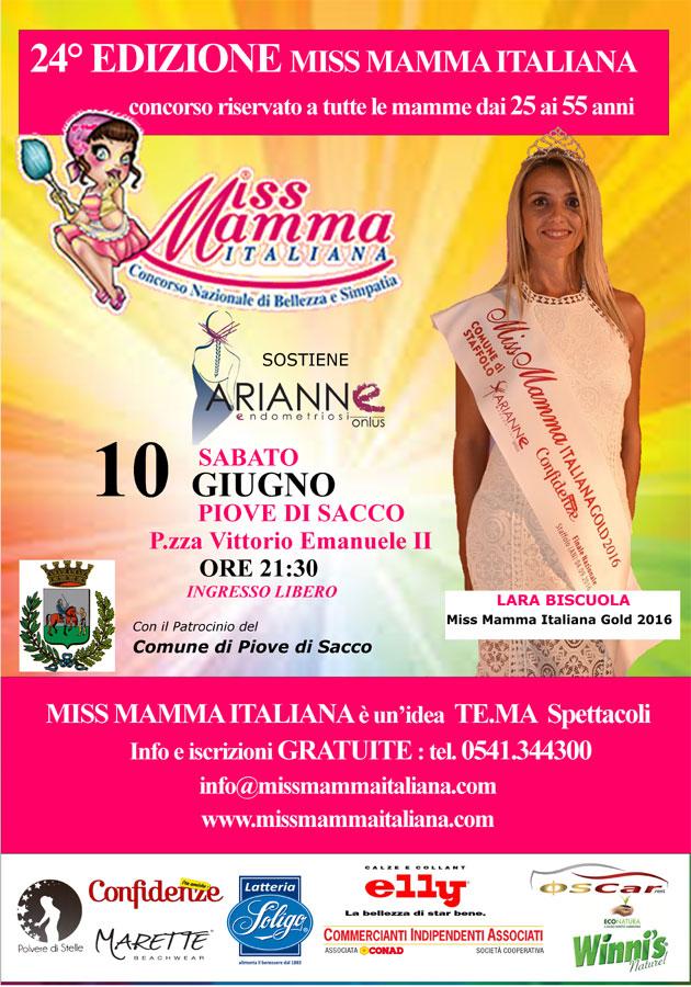 Locandina selezione Miss Mamma Italiana 2017 Piove di Sacco
