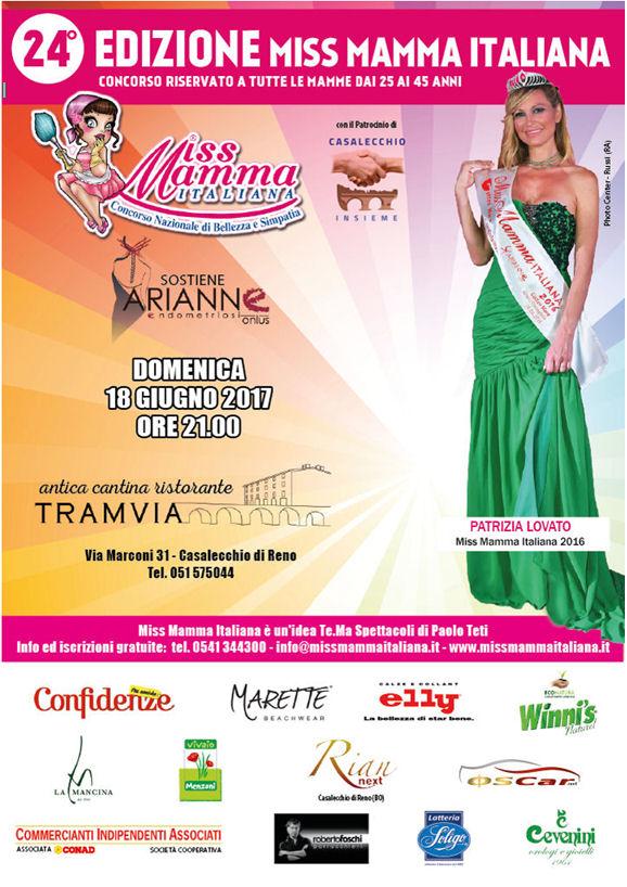 Locandina selezioni Miss Mamma Italiana 2017 Casalecchio di Reno Bologna