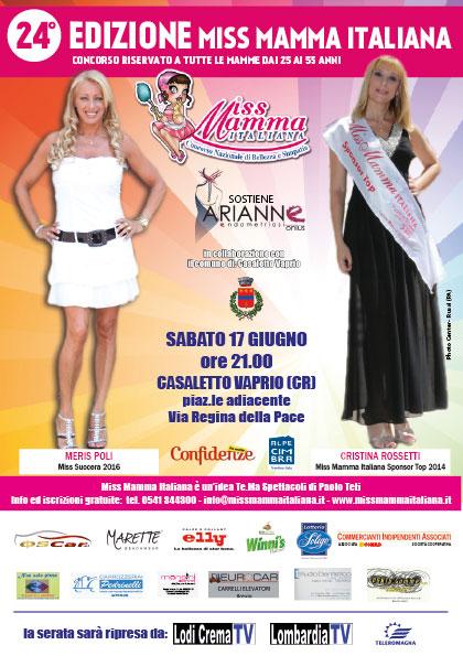 Locandina selezioni Miss Mamma Italiana 2017 Casaletto Vaprio