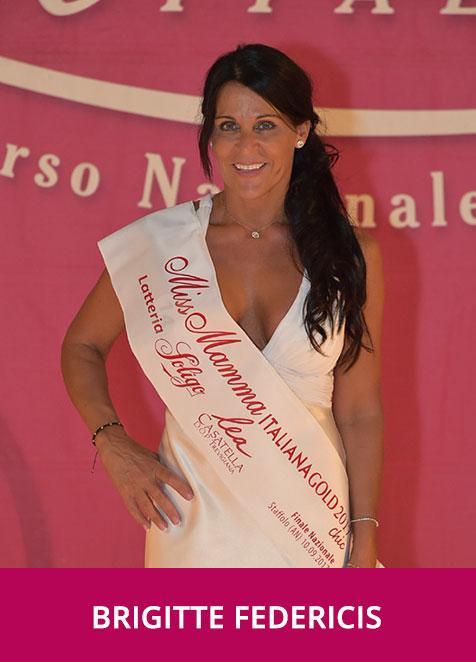 Brigitte Federicis Miss Mamma Italiana Gold Chic 2017