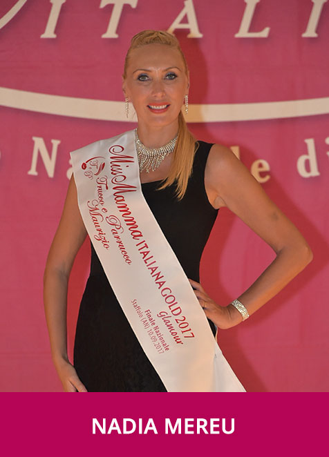 Nadia Mereu Miss Mamma Italia GOLD Glamour 2017