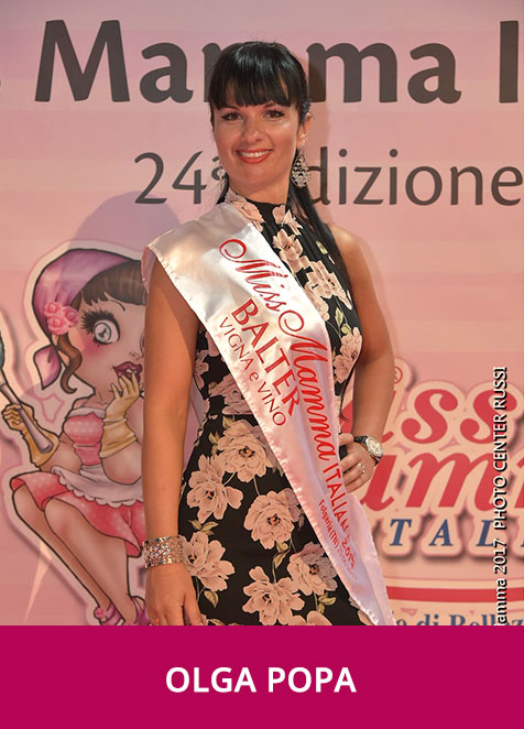 Olga Popa Miss Mamma Italiana Sponsor Top 2017