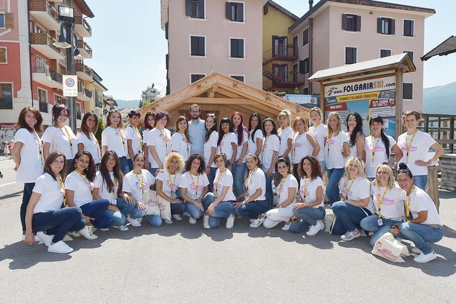 Prefinaliste del concorso di bellezza per mamme Miss Mamma Italiana 2017 a Folgaria
