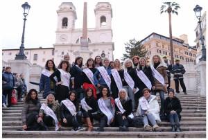 La Nazionale di Miss Mamma Italiana a Roma in Piazza di Spagna