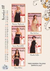 Calendario 2018 Miss Mamma Italiana - Dicembre 2017