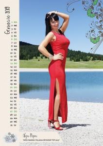 Calendario 2018 Miss Mamma Italiana - Gennaio 2019