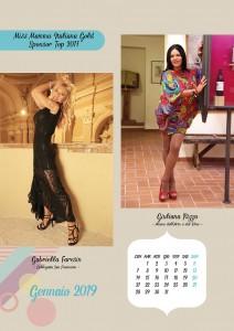 Calendario 2018 Miss Mamma Italiana Gold - Gennaio 2019