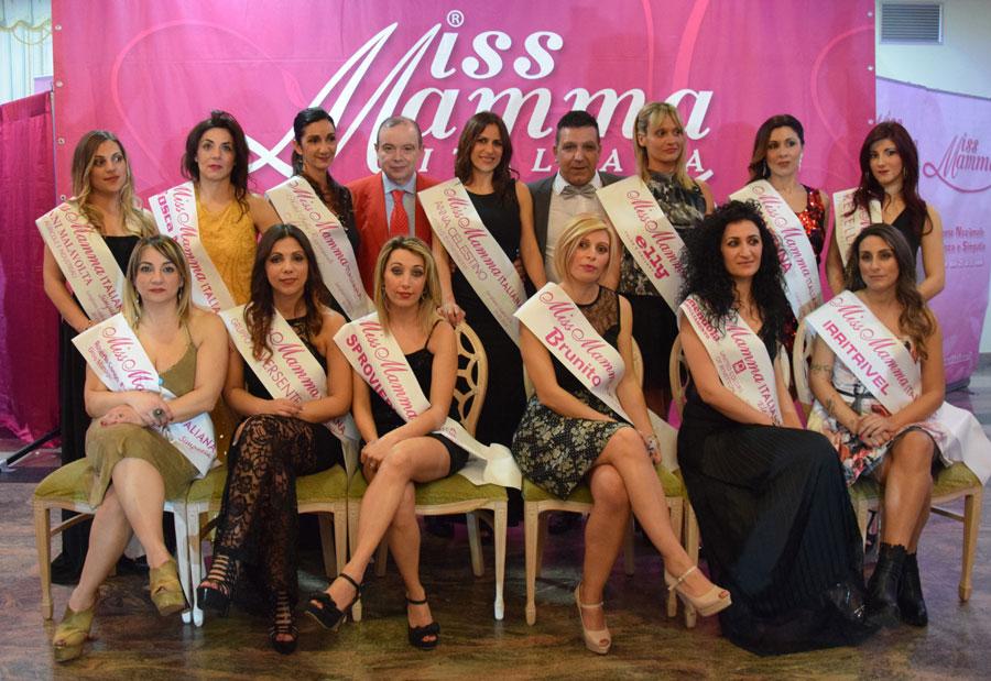 Le Mamme premiate alla selezione Miss Mamma Italiana 2018 a Corigliano Calabro, Cosenza