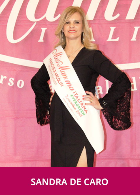 Sandra de Caro - Miss Mamma Italiana Evergreen Romantica 2018
