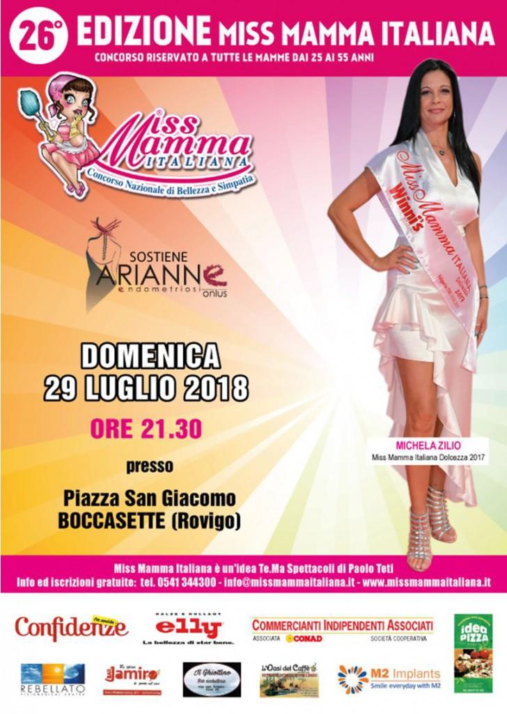 Locandina Miss Mamma Italiana Boccasette Rovigo