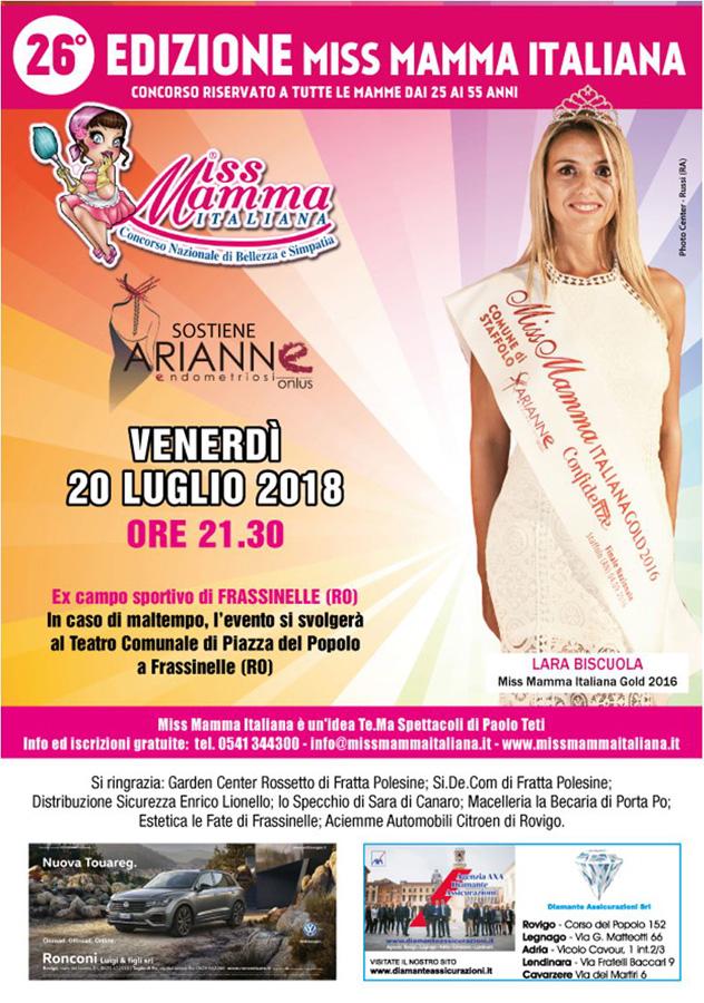 Locandina Miss Mamma Italiana Frassinelle Rovigo