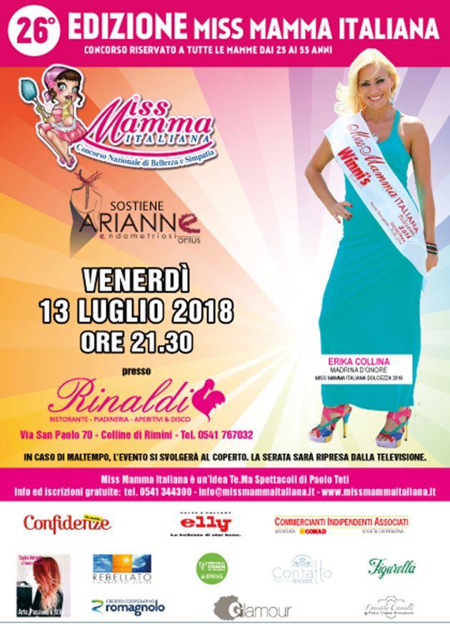 Locandina selezioni Miss Mamma Italiana Rimini