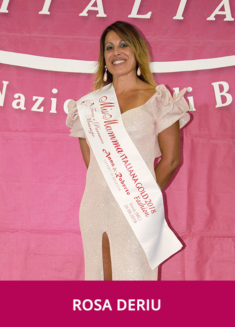 Rosa Deriu Miss Mamma Italiana GOLD  Fashion