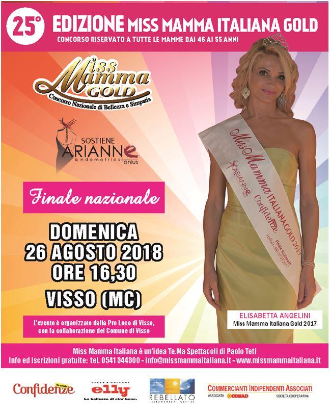 Locandina Finale Miss Mamma italiana GOLD 2018