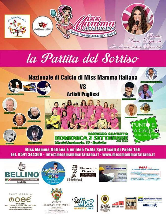 Locandina Partita del Sorriso a Barletta