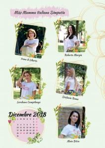 Calendario 2019 Miss Mamma Italiana - Dicembre 2018