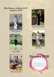 Calendario 2019 Miss Mamma Italiana Gold - Dicembre 2018