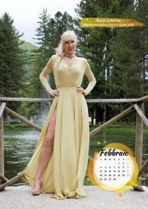 Calendario 2019 Miss Mamma Italiana Gold - Febbraio