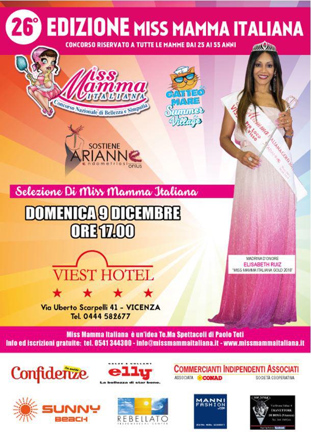 Locandina selezioni Miss Mamma Italiana a Vicenza