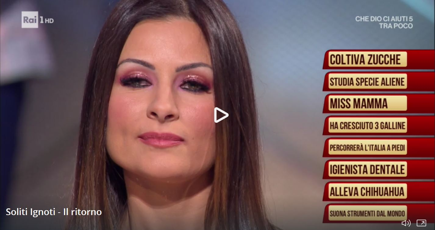 """Natasha Fato ospite de """"I Soliti Ignoti"""" di Rai1"""