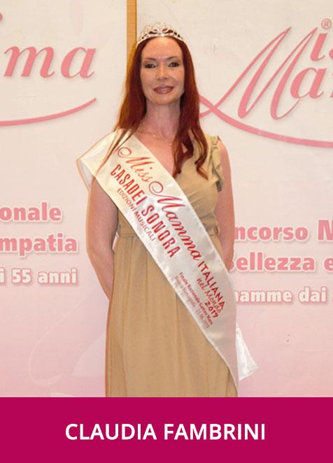Claudia Fambrini Miss Mamma Italiana nel Mondo