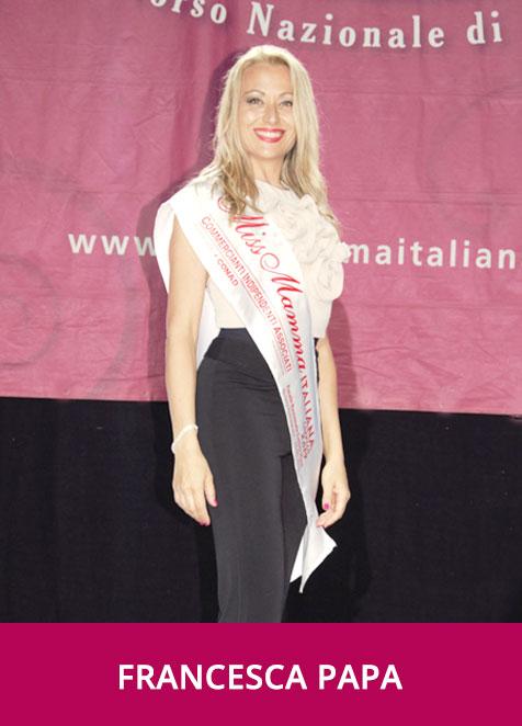 Francesca Papa Miss Mamma Italiana Sorriso Conad 2019