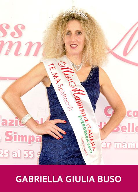 Gabriella Giulia Buso Miss Mamma Italiana Evergreen 2019