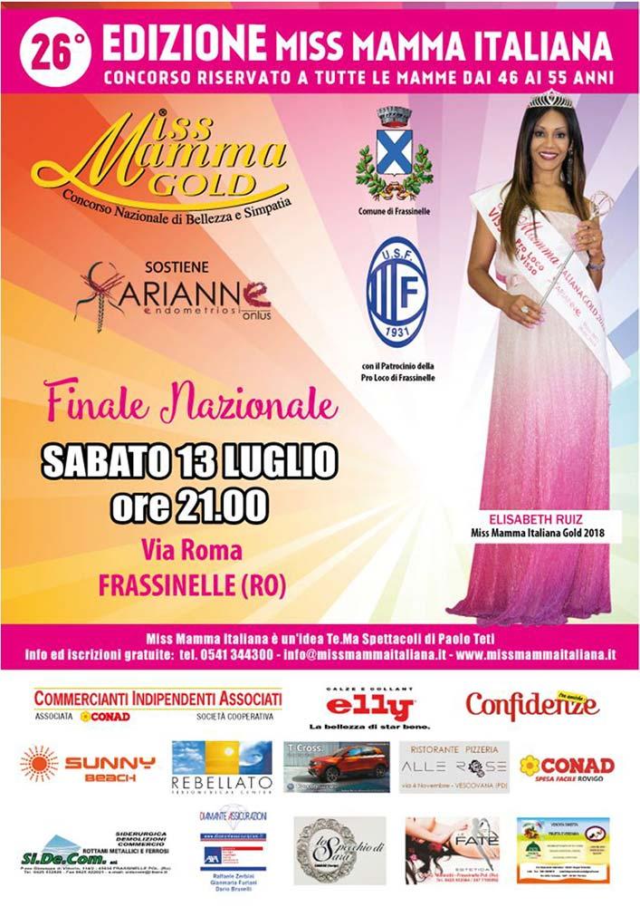 Locandina Finale Miss Mamma Italiana Gold 2019