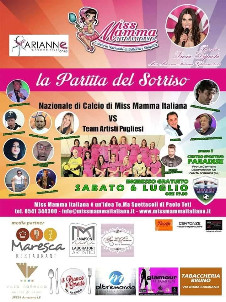 Locandina Partita del Sorriso a Lecce