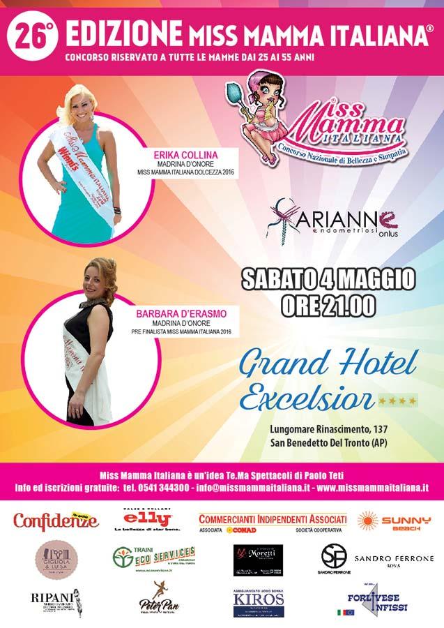 Locandina selezione Miss Mamma Italiana 2019 a San Benedetto del Tronto
