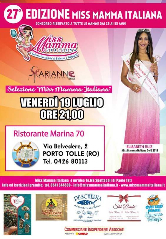 Locandina selezione Miss Mamma Italiana 2020 a Porto Tolle