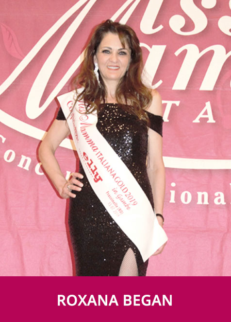 Roxana Began Miss Mamma Italiana Gold in Gambe