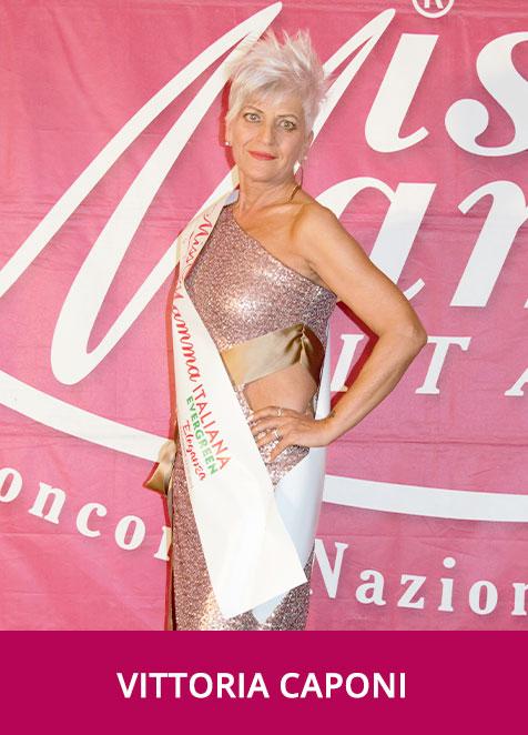 Vittoria Caponi Miss Mamma Italiana Evergreen Eleganza