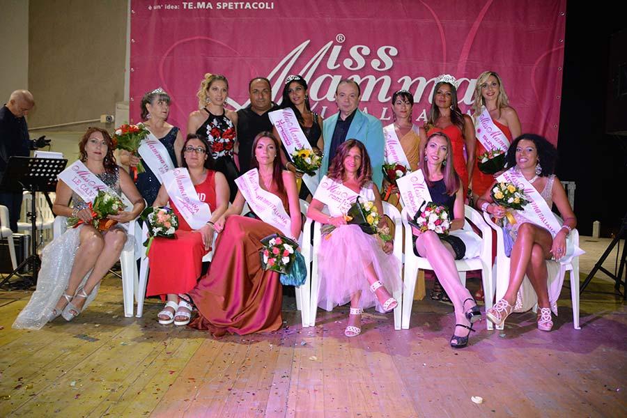 Vincitrici selezione Miss Mamma Italiana 2020 a San Giovanni in Fiore (Cosenza)