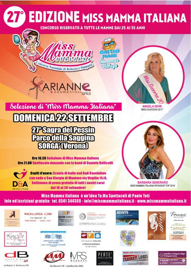 Locandina selezione Miss Mamma Italiana 2019 a Sorga