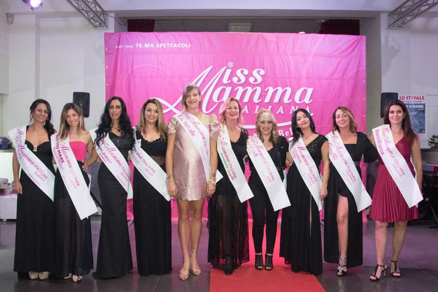 Mamme premiate alla selezione Miss Mamma Italiana 2020 a Firenze
