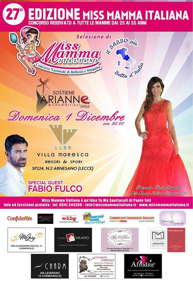 Locandina selezione Miss Mamma Italiana 2020 a Lecce