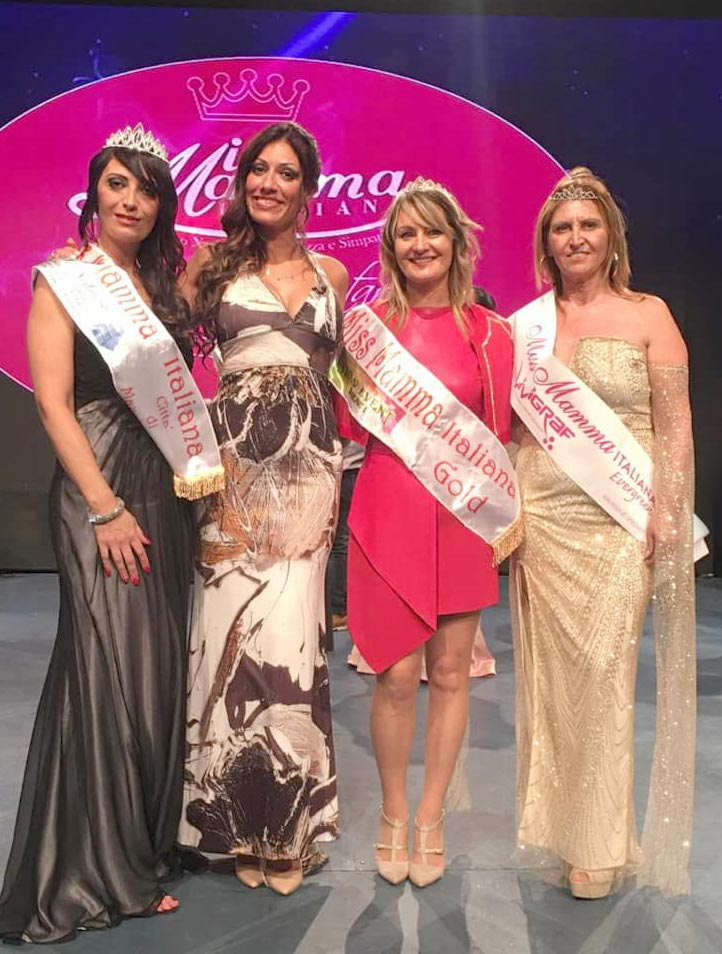 Mamme vincitrici alla selezione Miss Mamma Italiana 2020 a Marcianise