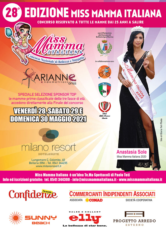 Locandina Selezione Speciale Miss Mamma Italiana Sponsor Top 2021_El