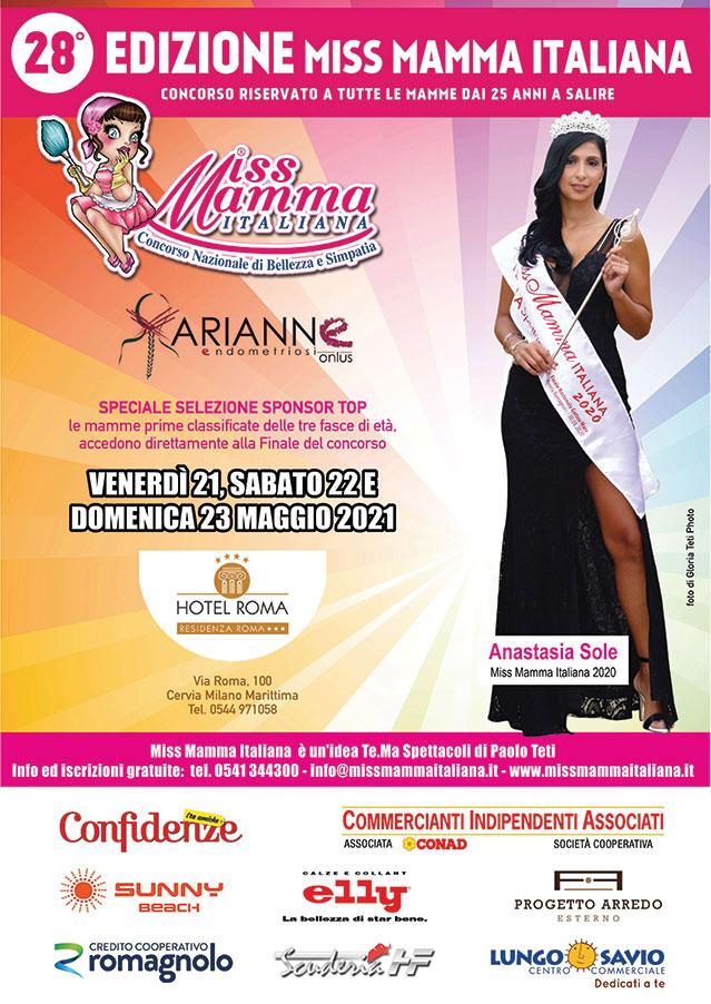 Locandina Selezione Miss Mamma Sponsor Top Cervia