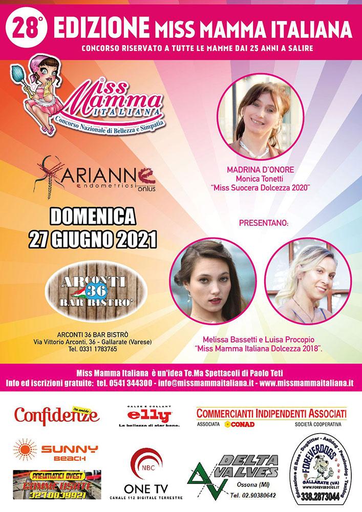 Locandina selezioni Miss Mamma Italiana a Gallarate