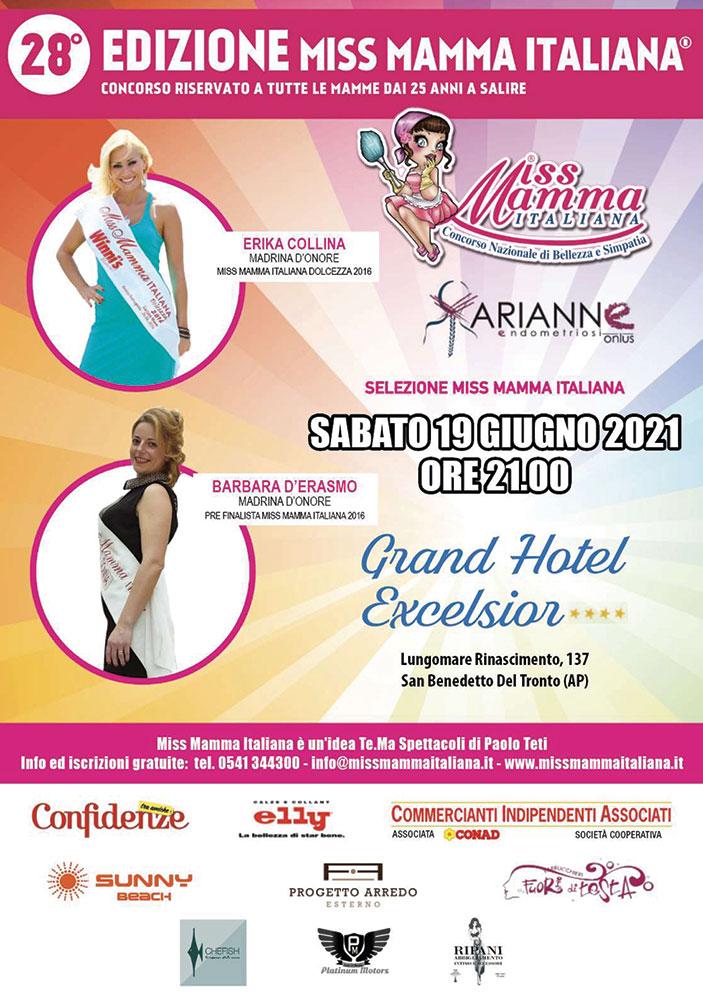 Locandina selezioni Miss Mamma Italiana a San Benedetto del Tronto