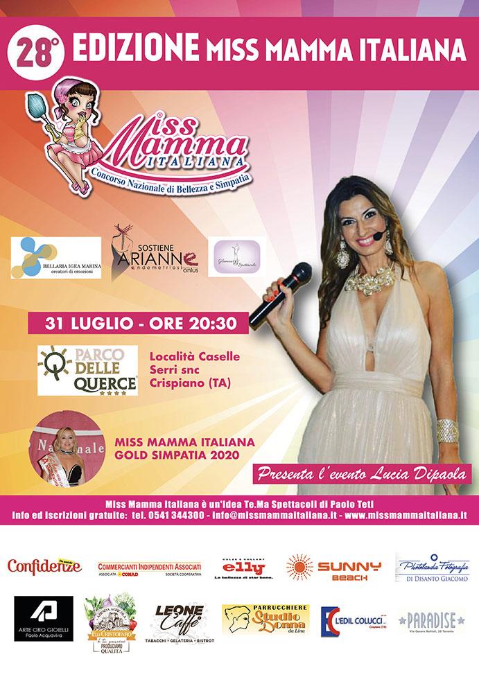 Locandina selezioni Miss Mamma Italiana 2021 a Crispiano TA