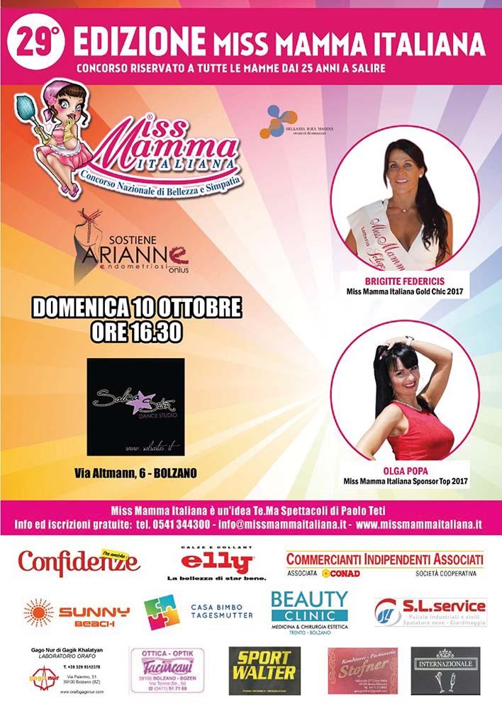 Locandina Selezione Miss Mamma Italiana 2022 a Bolzano